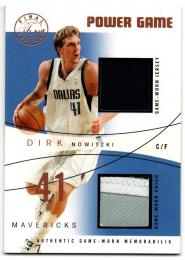 2003-04 FLEER Flair Final Edition Power Game Jersey and Patch / DIRK NOWITZKI 【56/75】