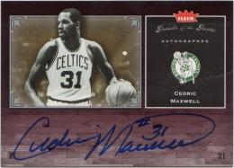 2005-06 Greats of the Game  Cedric Maxwell Autographs