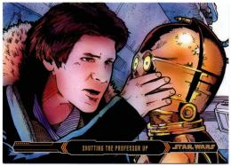 2015 TOPPS Star Wars Illustrated Empire Strikes Back Gold / Shutting the Professor Up 【06/10】
