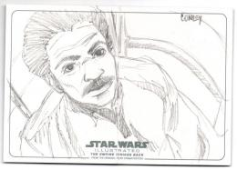 2015 TOPPS Star Wars Illustrated Empire Strikes Back Panorama Sketches / RON CONLEY