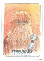 2015 TOPPS Star Wars Illustrated Empire Strikes Back Sketches / PABLO DIAZ 【1/1】