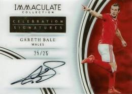 2017 IMMACULATE COLLECTION / Gareth BALE /  Celebration Signatures 【25/25】※ラストナンバー!!