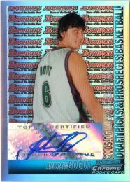 2005-06 Bowman Chrome  Andrew Bogut Autographs 13/50