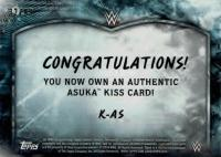 2018 Topps WWE Road to Wrestlemania / ASUKA / AUTHENTIC KISS CARD
