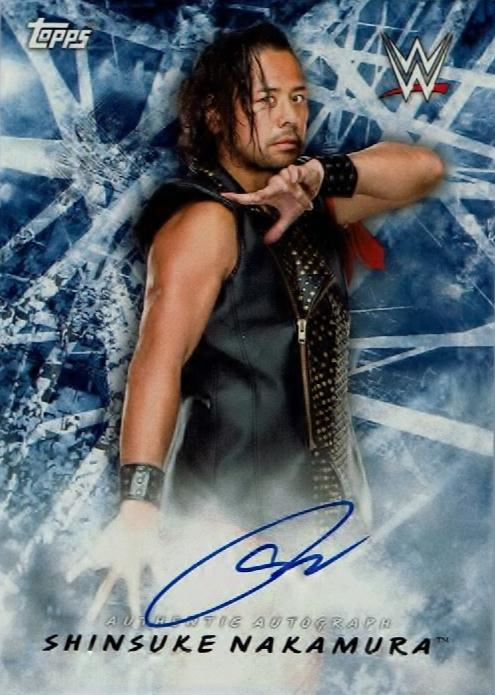 2018 Topps WWE Road to Wrestlemania / SHINSUKE NAKAMURA / AUTHENTIC AUTOGRAPH