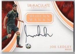 2017 Immaculate Collection	Gold Parallel Modern Marks Autographs	Joe Ledley	【01/10 1st NO.】