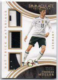 2017 Immaculate Collection	Prime Parallel Hat Trick Materials	Thomas Muller	【22/25】