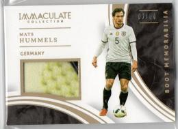 2017 Immaculate Collection	Boot Memorabilia	Mats Hummels	【06/50】
