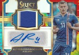 2017-18 Panini Select Soccer  Alfred Finnbogason - Iceland Jersey Autographs 29/30