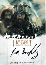 2016 The Hobbit Battle of the Five Armies 	Jed Brophy as Nori the Dwarf	直筆サインカード