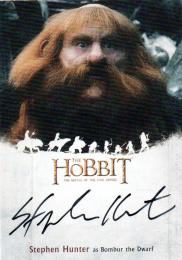 2016 The Hobbit Battle of the Five Armies 	Stephen Hunter as Bombur the Dwarf	直筆サインカード