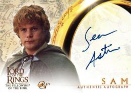 2001 Lord of the Rings Fellowship of the Ring	Sean Astin as Sam	直筆サインカード