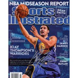 Autographed Golden State Warriors Klay Thompson Fanatics Authentic 2-23-15 Sports Illustrated Magazine