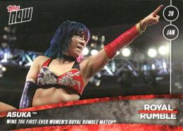 TOPPS NOW 18 WWE Royal Rumble	アスカ