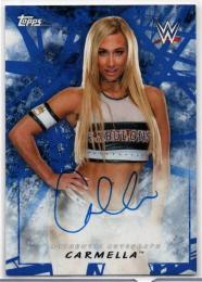2018 TOPPS WWE Road To WrestleMania	Blue Parallel Autograph	Carmella	【19/50】