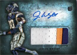 2012 TOPPS Inception  Jarius Wright Rookie Patch & Autograph