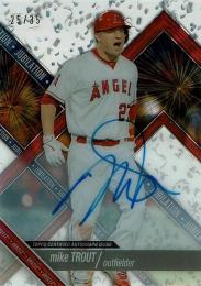 2017 Topps High Tek Jubilation Autographs #JMT Mike Trout