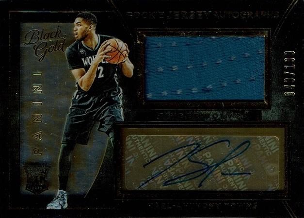 2015-16 Panini Black Gold Rookie Jersey Autographs #1 Karl-Anthony Towns 【49/199】