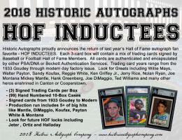 18 HISTORIC AUTOGRAPH HOF INDUCTEES[ボックス]