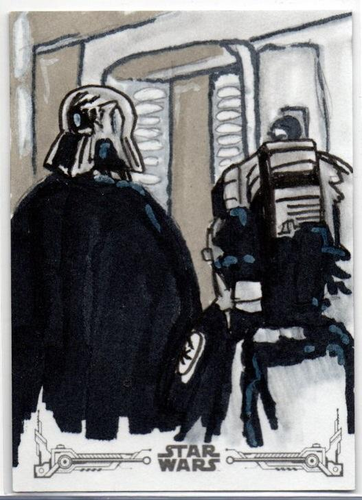 2018 TOPPS Star Wars Black And White	Sketch Card	Dean Drummond