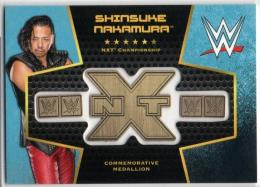 2017 TOPPS WWE Then Now Forever	Blue Parallel Commemorative Championship Medallion	Shinsuke Nakamura	【02/50】