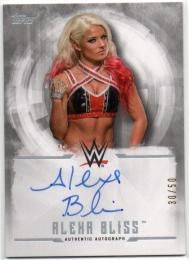 2017 TOPPS WWE Undisputed	Silver Parallel Autograph	Alexa Bliss	【30/50】