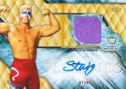 2017 TOPPS Legends of WWE Sting Autographed Shirt Relic 10枚限定 /2