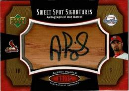 2005 Upper Deck Sweet Spot Autographed Bat Barrel Albert Pujols 【8/15】