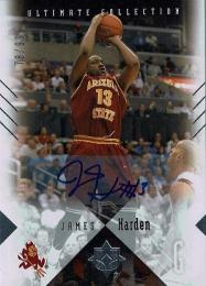 2010-11 UD Ultimate Collection #2 Autograph James Harden