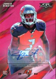 2015 TOPPS Fire  Jameis Winston Autograph (RC) 05/25