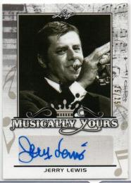 2017 LEAF Pop Century	Silver Parallel Musically Yours Autograph	Jerry Lewis	【25/25 Last NO.】