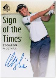 2013 SP AUTHENTIC  Edoardo Molinari Autographs