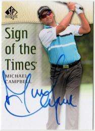 2013 SP AUTHENTIC  Michael Campbell Autographs