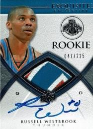 2008-09 Exquisite Collection #93 RC Patch Autograph Russell Westbrook 【47/225】