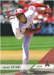 2018 Topps NOW No210 Shohei Ohtani 2018 May 13. 大谷翔平 開幕6戦43奪三振でエンゼルスの記録を塗り替える。(英語表記版)