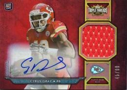 2012 TOPPS Triple Threads	Cyrus Gray Rookie Autograph & Jersey	45/99