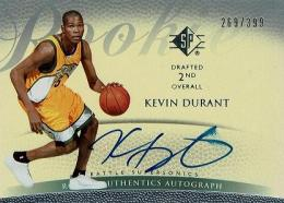 2007-08 SP Authentic Retail RC Autographs #152 Kevin Durant 【269/399】