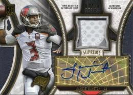 2015 TOPPS Supreme	Jameis Winston 	Rookie Autograph & Patch 01/30 (First No.)