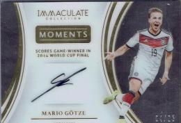 2017 PANINI IMMACULATE SOCCER Moments Autograph Card Mario Gotze 【04/25】