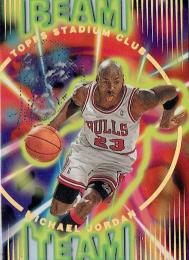 1995-96 TOPPS STADIUM CLUB Beam Team Michael Jordan