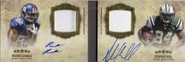 2012 TOPPS Five Star Rueben Randle / Stephen Hill Dual Rookie Autograph & Patch Booklet 01/15 (First No.)