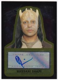 2015 TOPPS Star Wars Journey to The Force Awakens Autographs Gold / HASSANI SHAPI 【05/10】