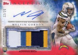 2015 TOPPS Inception	Melvin Gordon	Rookie Autograph & Patch	12/25