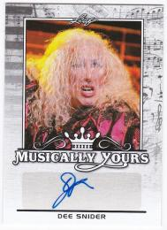 2017 Pop Century Musically Yours Autographs DEE SNIDER /