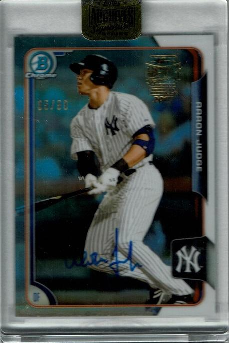 2017 Topps Archives Signatures Buyback Autograph  Aaron Judge 【95/99】