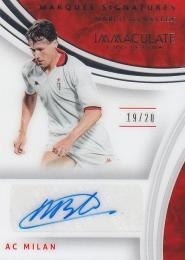 2017 PANINI IMMACULATE SOCCER  Marco Van Basten - AC Milan Marquee Signatures 19/20