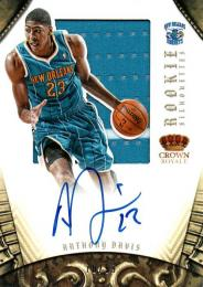 2012-13 PANINI Preferred Anthony Davis Jersey& ookie Autograph 	70/99