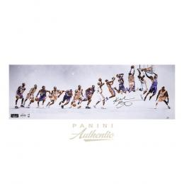 "Kobe Bryant Autographed 12x36 ""Through the Years"" Photograph ~Limited Edition to 124~[フレーム付き]"