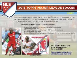 ◆予約◆ 2018 TOPPS MLS(MAJOR LEAGUE SOCCER)[ボックス]