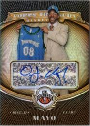2008-09 Topps Treasury  O.J. Mayo Autographs 01/50
